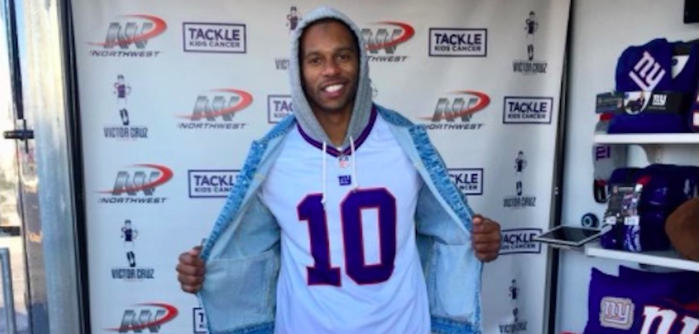 info for f8ff5 68321 Victor Cruz Wears No. 10 Jersey To Support Eli Manning At ...